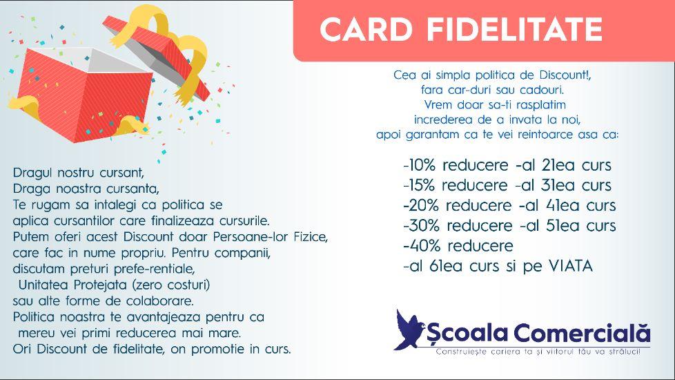 Card de Fidelitate SCS