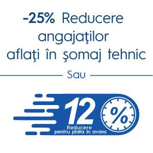 25% Reducere angajatilor in somaj tehnic
