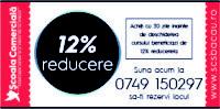 12% Reducere la cursuri